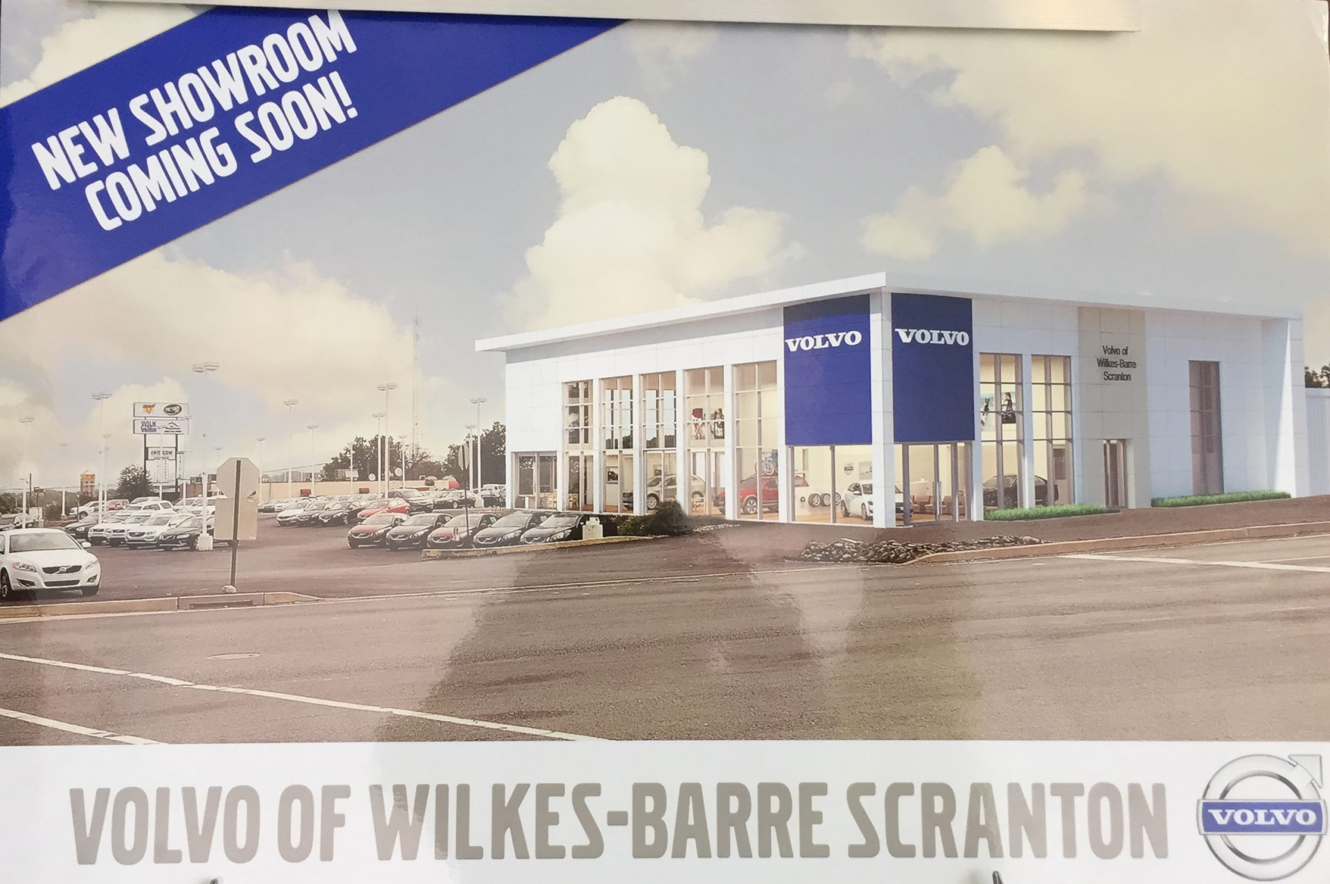 Construction Is Underway At Volvo Of Wilkes Barrre
